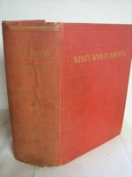 Who's Who In America: A Biographical Dictionary of Notable Living Men and Women of the United States 1908-1909, Marquis, Albert Nelson