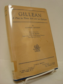 Gillean: A Play in Three Acts and an Epilogue, Kennedy, Belle Cumming; Brown, Gilmor (Foreword)