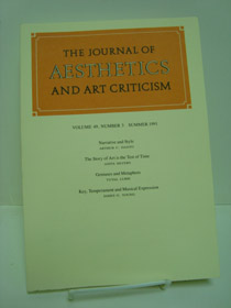 The Journal of Aesthetics and Art Criticism (Volume 40, Number 3, Summer 1991), Danto, Arthur C.; Silvers, Anita, et al