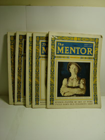 The Mentor Magazine 5-Volume Set: September 1925, October 1925, January 1925, March 1925, April 1925