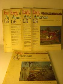 Early American Life Magazine 5 Volume Set: June 1973; August 1973; February 1974; April 1974; June 1974