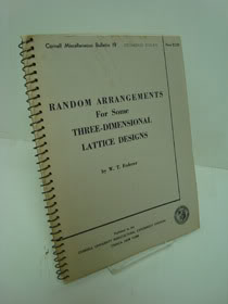 Random Arrangements For Some Three-Dimensional Lattice Designs (Cornell Miscellaneous Bulletin 19), Federer, W.T.