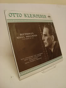 Beethoven Missa Solemnis in D Major, OP. 123 LP, Beethoven, Ludwig; Klemperer, Otto - composer with Vienna Symphony Orchestra