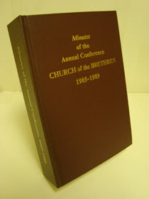 Minutes of the Annual Conference of the Church of the Brethren, 1985-1989, Myers, Anne M.