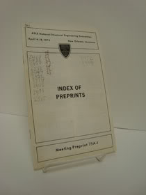 Index of Preprints, American Society of Civil Engineers