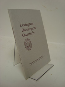 Lexington Theological Quarterly: Volume 32, Number 3, Fall 1997, Dare, Philip N.