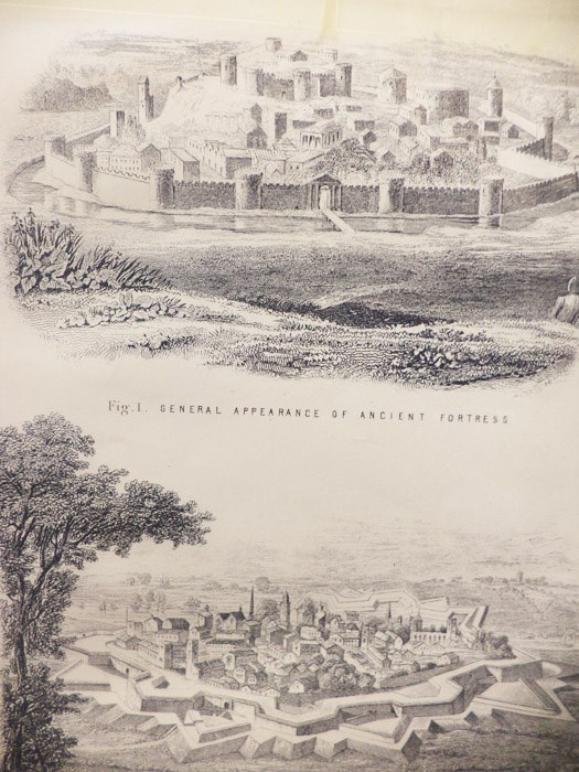 Five 1868 Fortification Prints: Plates 1-5
