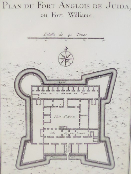 1747 Plan from Prevost's 'Histoire Generale des Voyages': Plan du Fort Anglois de Juida, ou Fort Williams, [Prevost]