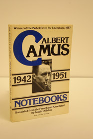 Notebooks, 1942-1951, Camus, Albert