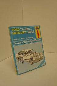 Ford Taurus and Mercury Sable 1986-88 All Models Owner's Workshop Manual (Haynes owners workshop manual series), Henderson, Bob; Haynes, J.H.