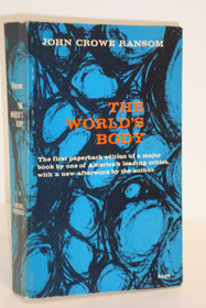The World's Body, Ransom, John Crowe