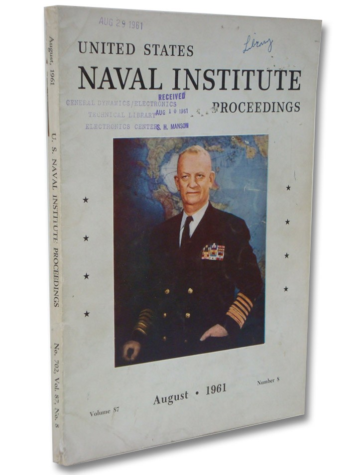 United States Naval Institute Proceedings Volume 87, Number 8, August 1961