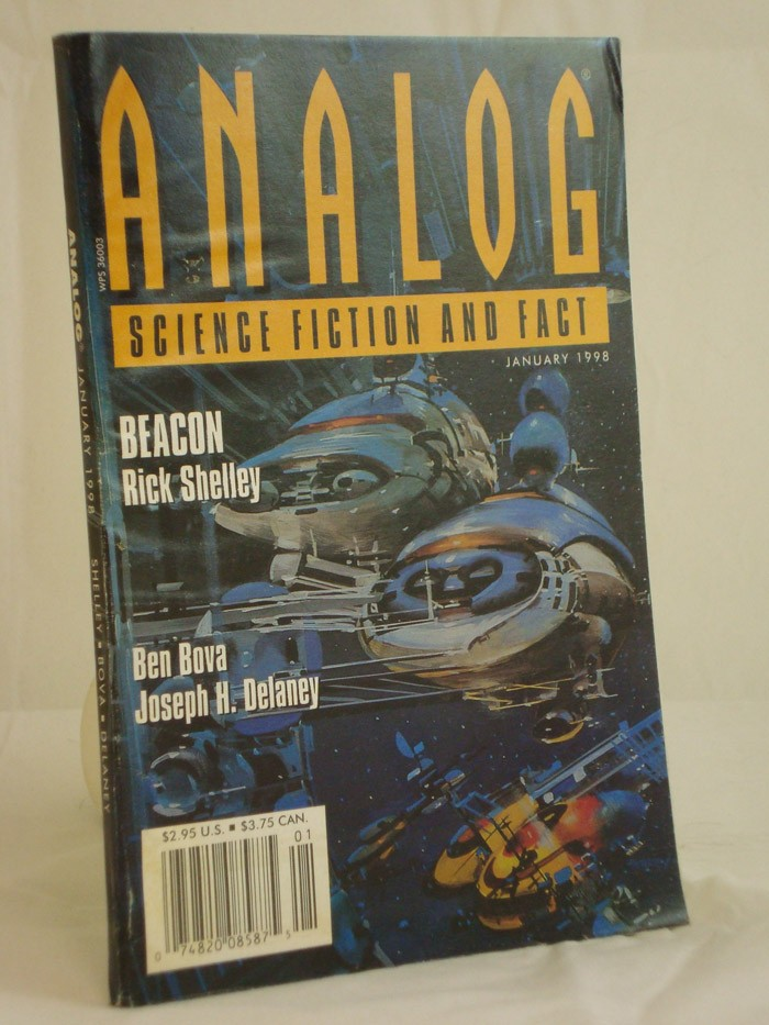 Analog: Science Fiction and Fact - January 1998, Shelley, Rick; Bova, Ben; Stratmann, H.G.; Michaud, Michael A.G.; Delaney, Joseph H.; Levinson, Paul