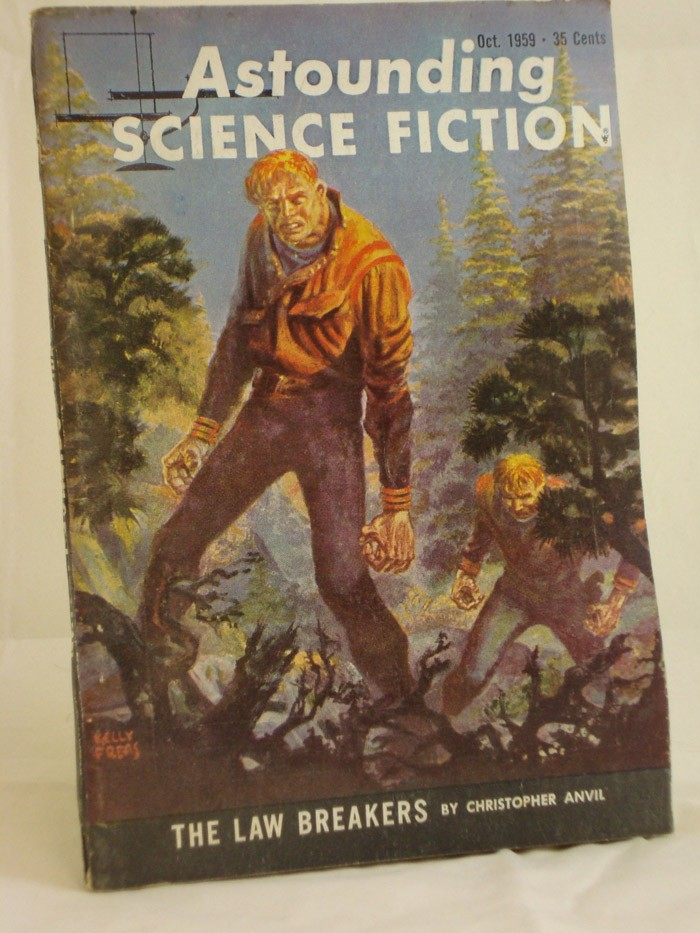 Astounding Science Fiction - Oct. 1959, Anvil, Christopher; Vance, Jack; Yaco, Murray F.; Phillips, Mark; Boyd, William C.