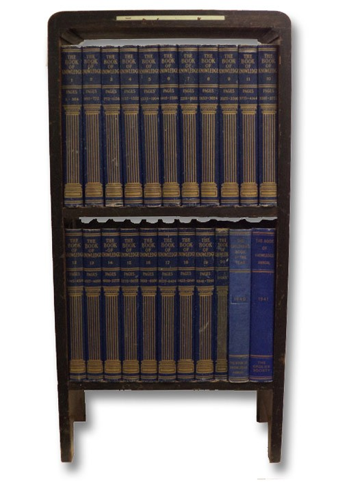The Book of Knowledge, in Twenty [20] Volumes, Plus Two Supplements, with Original Bookcase, Thompson, Holland; Fee, Arthur; Finley, John H.; et al