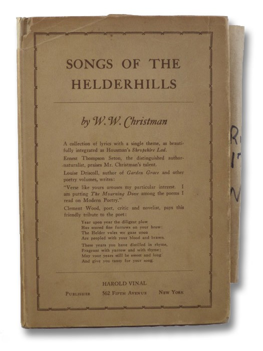 Songs of the Helderhills (SIGNED FIRST EDITION), Christman, W.W.