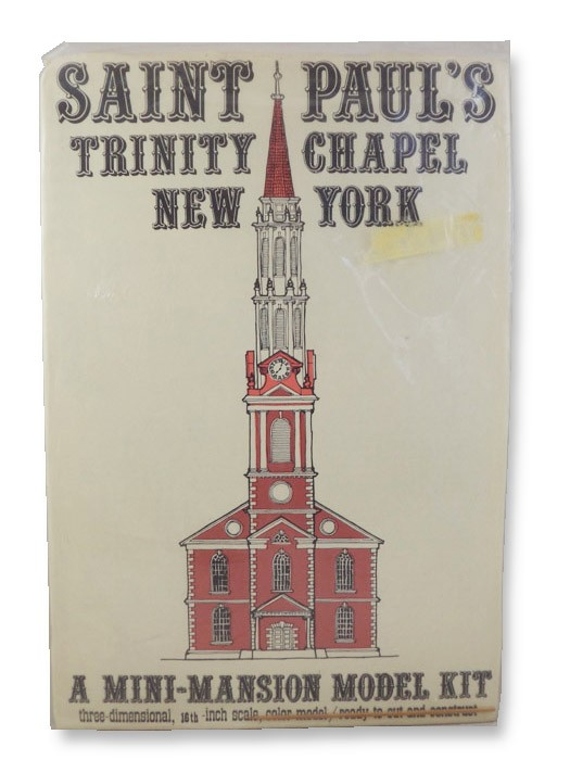 Saint Paul's Trinity Chapel, New York - A Mini-Mansion Model Kit: Three-Dimensional, 16th-Inch Scale, Color Model, Ready to Cut and Construct, Killeen, Roy & Jacqueline
