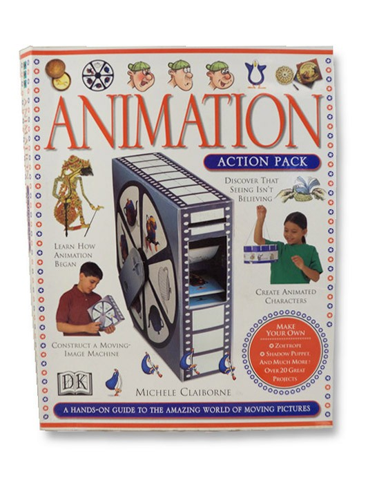 Animation Action Pack: A Hands-On Guide to the Amazing World of Moving Pictures -- Includes Drawing Guide, Moving-Image Machine, Zoetrope, Phenakistoscope, Kinetipic Viewer, Pencil Roller, Flipbook and Gripper, Thaumatrope, Pegboard, and Guidebook, Claiborne, Michele