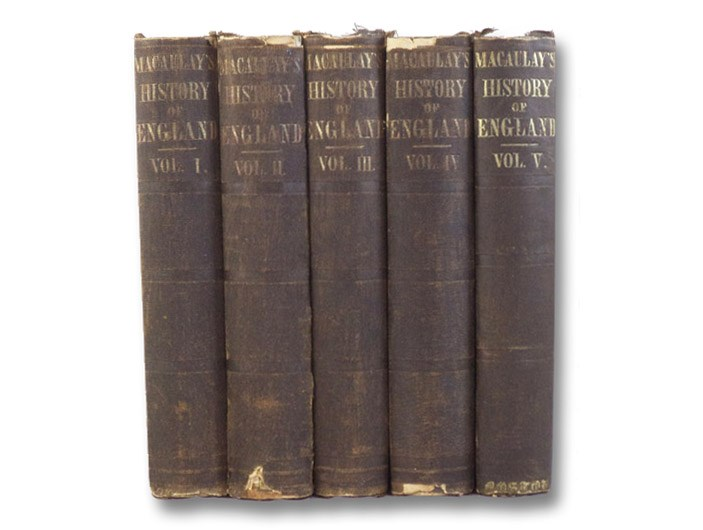 The History of England from the Accession of James II. -- Complete Five Volume Hardcover Set -- Volumes I, II, III, IV, and V [1, 2, 3, 4, & 5], Macaulay, Thomas Babington