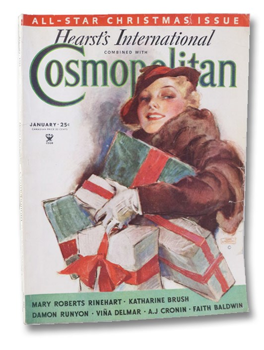 Hearst's International Combined with Cosmopolitan Magazine, January 1935 - All-Star Christmas Issue (No. 583), Baldwin, Faith; Delmar, Vina; La Farge, Oliver; Carrel, Bart; Tuckerman, Arthur; Brown, Royal; Kantor, MacKinlay; Cronin, A.J.; Runyon, Damon; Kyne, Peter B.; Brush, Katharine; Douglas, Lloyd C.; Corcoran, William; Rinehart, Mary Roberts; Hanighen, Frank;