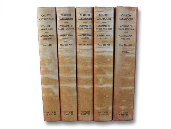 A Catalogue of Books Relating to the Discovery and Early History of North and South America, Forming a Part of the Library of E.D. Church, Complete in Five Volumes, Cole, George Watson