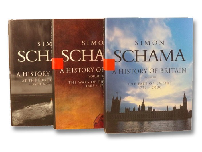 A History of Britain 3-Volume Hardcover Set: Vol. I. At the Edge of the World 3000 BC - AD 1603; Vol. II. The Wars of the British 1603-1776; Vol. III. The Fate of Empire 1776-2000, Schama, Simon