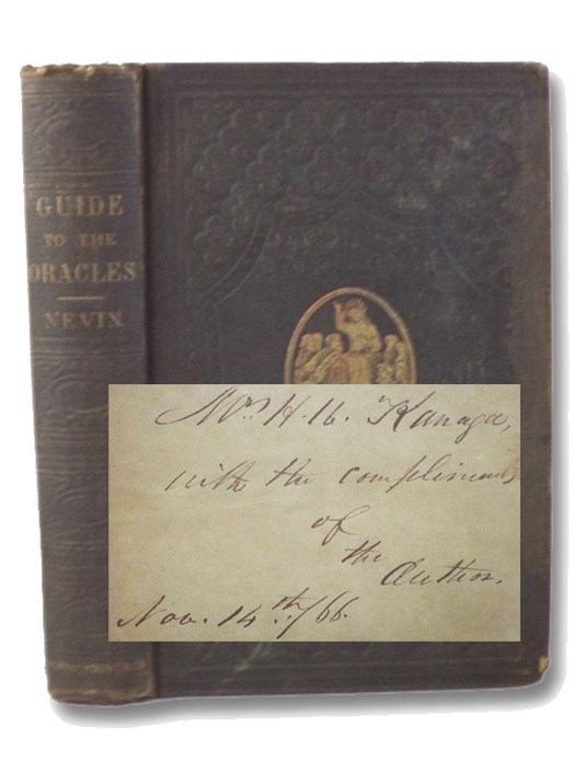 Guide to the Oracles; or, The Bible Student's Vade-Mecum., Nevin, Alfred