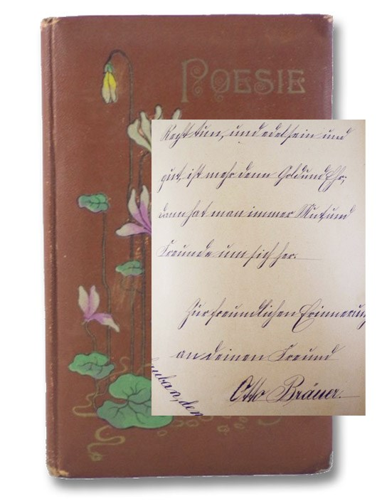Poesie [Edwardian Era Manuscript Volume of Verse in German]