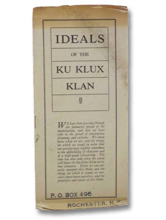 Ideals of the Ku Klux Klan