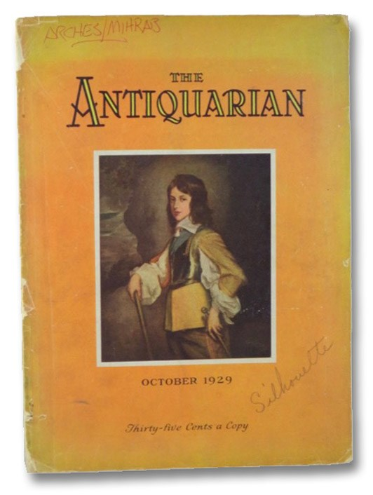The Antiquarian Magazine October 1929, Bollinger, Arthur F.