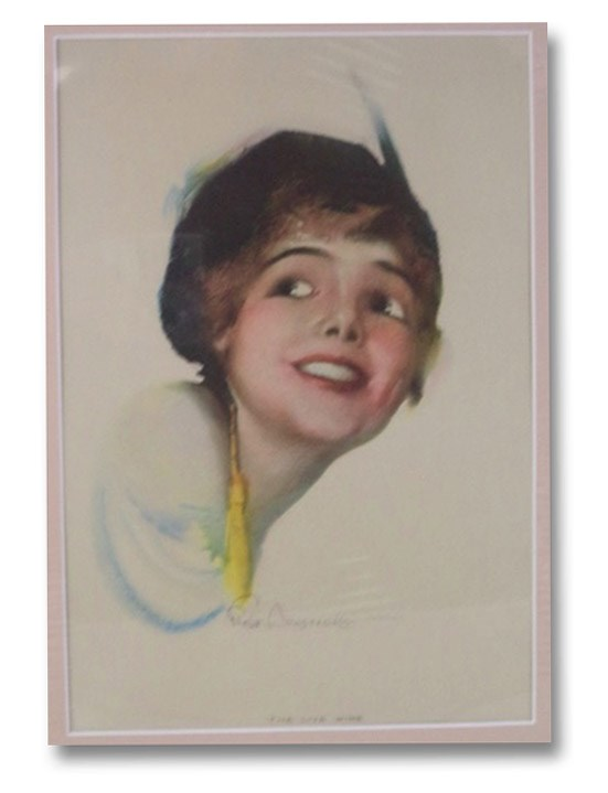 The Live Wire: Circa 1920 Color Print by Pin-Up Artist Rolf Armstrong, Armstrong, Rolf