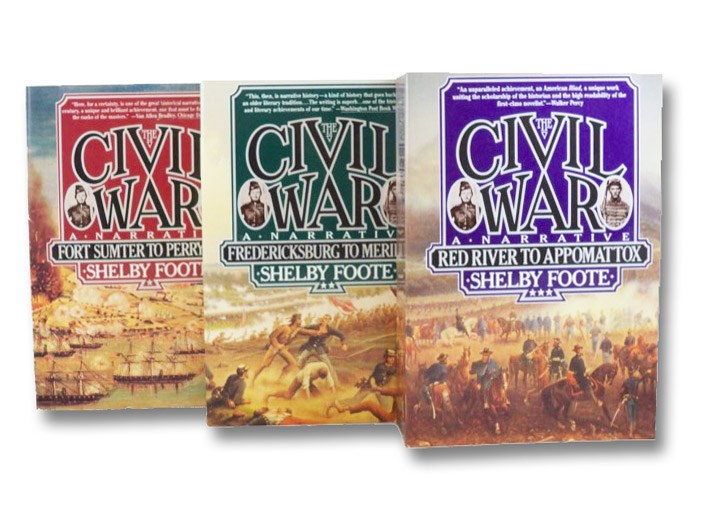 The Civil War: A Narrative, in Three Volumes: Fort Sumter to Perryville; Fredericksburg to Meridian; Red River to Appomattox, Foote, Shelby