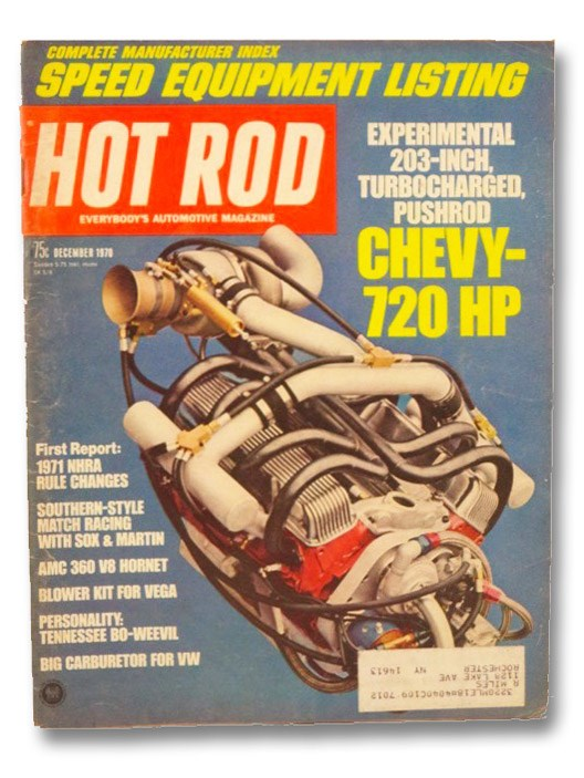 Hot Rod Magazine December 1970, Evans, Don