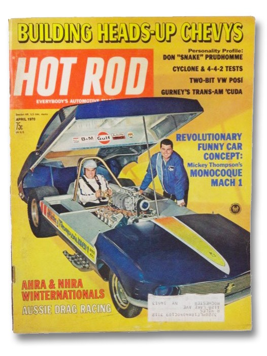 Hot Rod Magazine April 1970, Evans, Don