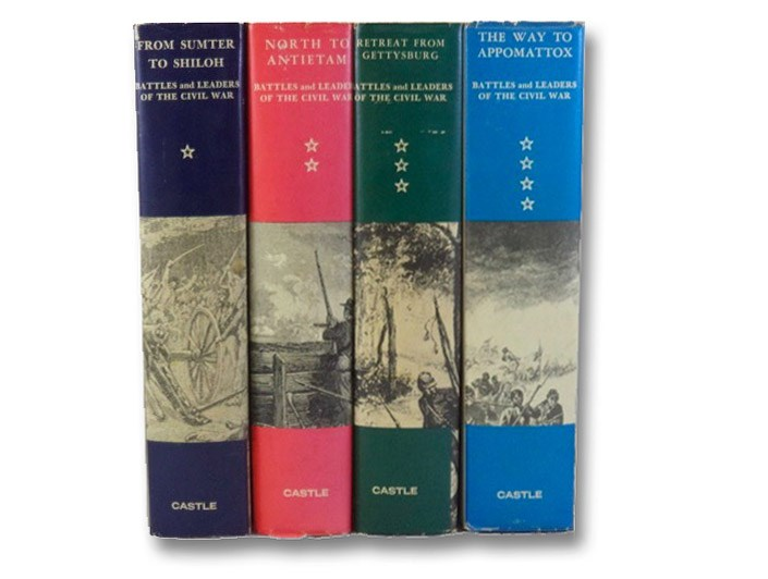 Battles and Leaders of the Civil War, 4 Volume Set (Volume 1: From Sumter to Shiloh; Volume 2: North to Antietam; Volume 3: Retreat From Gettysburg; Volume 4: The Way to Appomattox), Castle Books