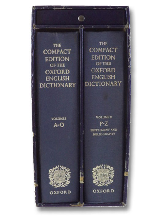 Compact Edition of the Oxford English Dictionary, Complete Text Reproduced Micrographically (2-Volume Hardcover Set), Oxford University Press