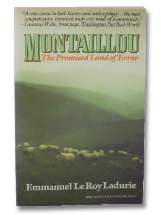 Montaillou: The Promised Land of Error, Ladurie, Emmanuel Le Roy