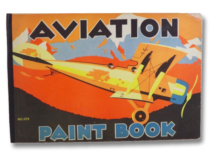 Aviation Paint Book (No. 105) [Airplane Coloring Book]