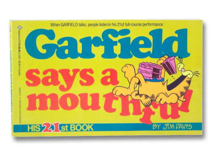 Garfield Says a Mouthful (His 21st Book), Davis, Jim