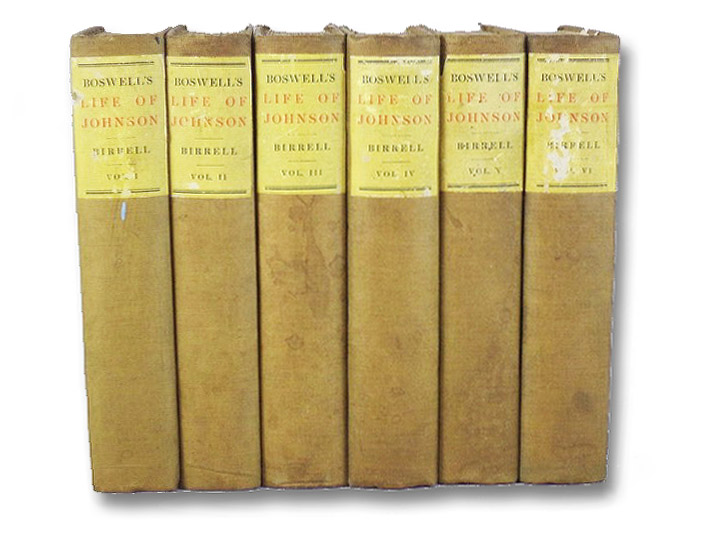 Boswell's Life of Johnson (Six Volume Set), Boswell, James; Birrell, Augustine (Editor)