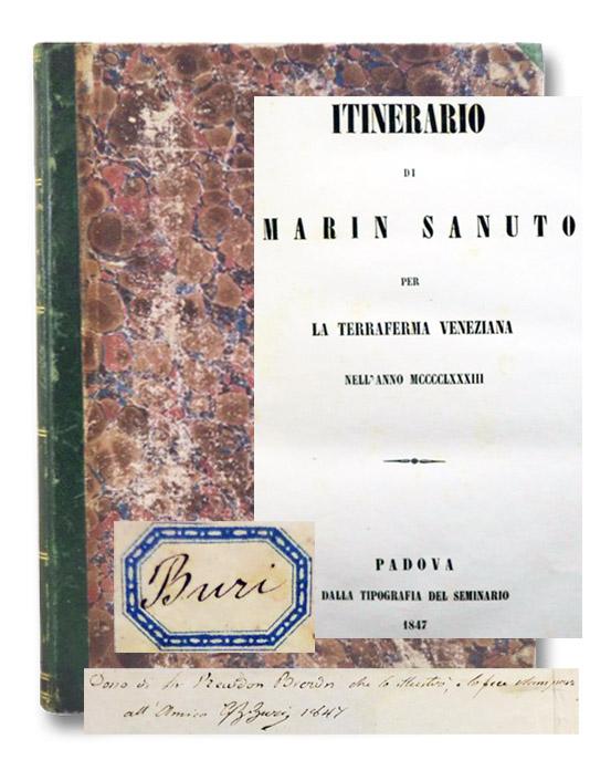 Itinerario di Marin [Marino] Sanuto per la Terraferma Veneziana nell'Anno MCCCCLXXXIII [1483], Sanuto, Marin [Marino Sanuto the Younger]; Brown, Radon [Lubbock]