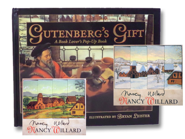 Gutenberg's Gift: A Book Lover's Pop-Up Book, Willard, Nancy