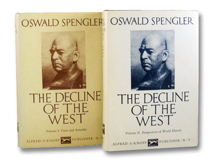 The Decline of the West 2-Volume Hardcover Set: I. Form and Actuality; II. Perspectives of World-History, Spengler, Oswald; Atkinson, Charles Francis - translation with notes