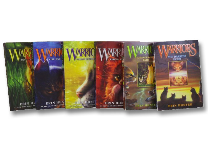 Warriors Series Six-Volume Set (Into the Wild; Fire and Ice; Forest of Secrets; Rising Storm; A Dangerous Path; The Darkest Hour), Hunter, Erin