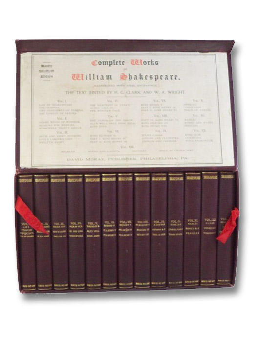 Complete Works of William Shakespeare. Handy Stratford Edition, in Thirteen Volumes., Shakespeare, William; Clark, H.G.; Wright, W.A.