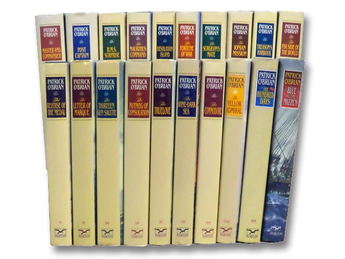The Complete Aubrey / Maturin Series, in Twenty Volumes: Master and Commander; Post Captain; H.M.S. Surprise; The Mauritius Command; Desolation Island; The Fortune of War; The Surgeon's Mate; The Ionian Mission; Treason's Harbour; The Far Side of the World; The Reverse of the Medal; The Letter of Marque; The Thirteen Gun Salute; The Nutmeg of Consolation; The Truelove; The Wine-Dark Sea; The Commodore; The Yellow Admiral; The Hundred Days, O'Brian, Patrick [O'Brien]