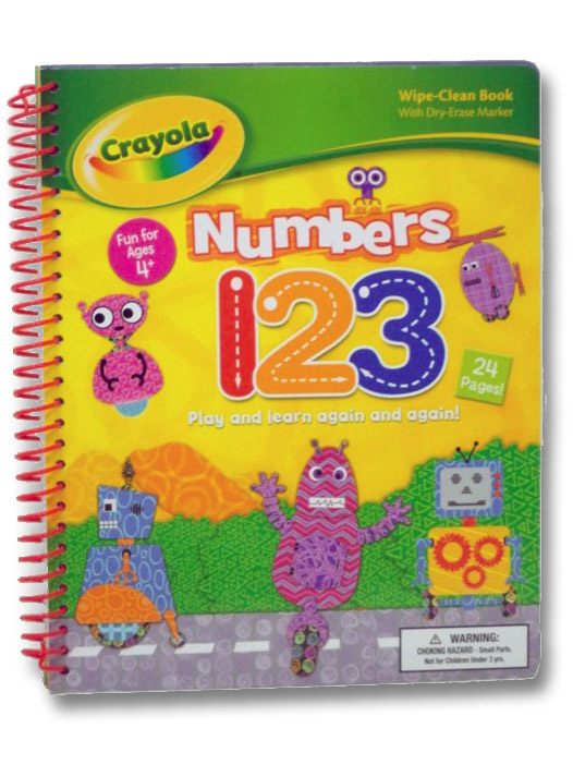 Numbers 1 2 3 Play and Learn Again and Again! Wipe-Clean Book (Crayola)