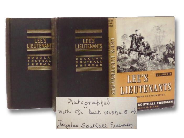 Lee's Lieutenants: A Study in Command, Three Volume Set -- Manassas to Malvern Hill; Cedar Mountain to Chancellorsville; Gettysburg to Appomattox, Freeman, Douglas Southall