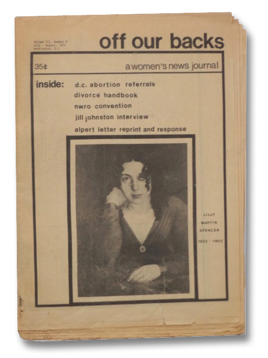 Off Our Backs: A Women's New Journal, Volume III, Number 9, July - August, 1973
