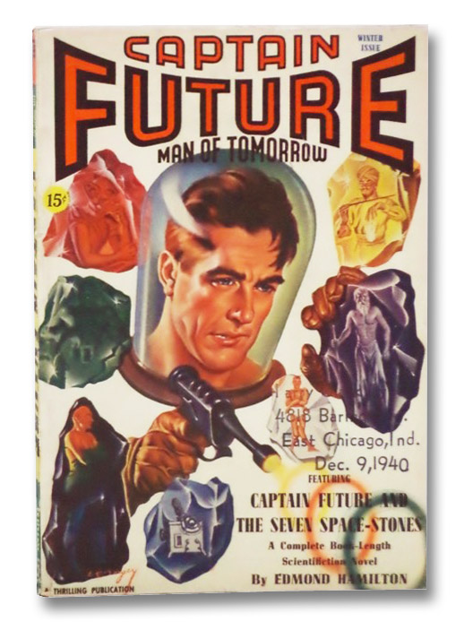 Captain Future: Man of Tomorrow Vol. 2, No. 2, Winter, 1941 (Wizard of Science), Hamilton, Edmond; Edwards, Gawain; Brown, Frederic; Vincent, Harl; Gurney, Marshal Ezra